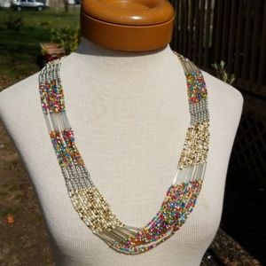 Vintage Beaded Statement Necklace